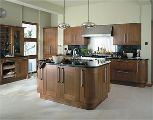 Estro Walnut Contemporary Kitchen