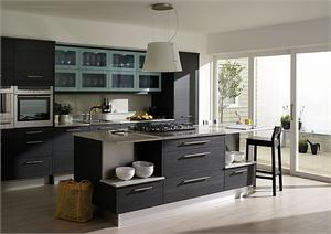 Fenton Graphite Contemporary Kitchen