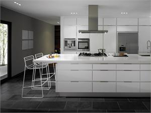 Integrato White Contemporary Kitchen