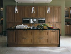 Scope Walnut Contemporary Kitchen