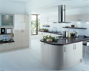 Avant Beige Contemporary Kitchen