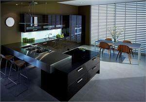 Avant Ebony Contemporary Kitchen