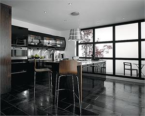 Avant Black Contemporary Kitchen