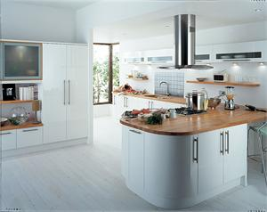 Avant White Contemporary Kitchen