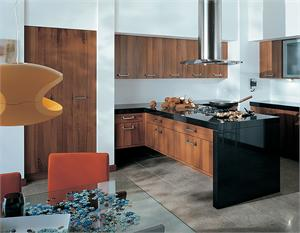 American Walnut Contemporary Kitchen